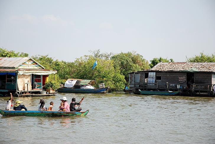 Камбоджа, купчина жилище, пъти, семейство, Югоизточна Азия