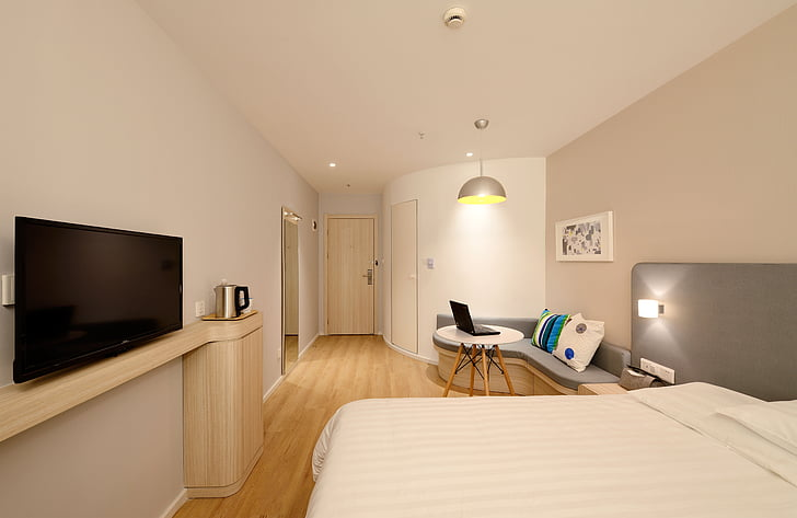 hotel, guest room, new, domestic Room, apartment, indoors, modern