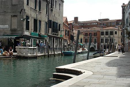 อิตาลี, เวเนโต, เวนิส, ช่อง, น้ำ, เรือ, การท่องเที่ยว