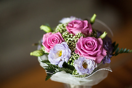 the bride's bouquet, flowers, bouquet, bouquet of flowers, bunch of flowers, the ceremony, rose