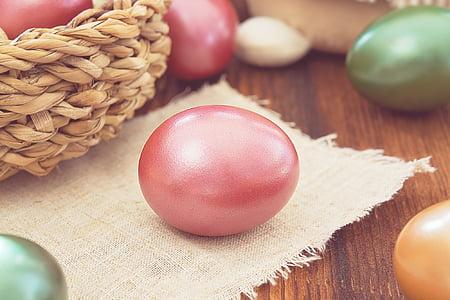 달걀, 이스터에 그, 색된 달걀, 암 탉의 계란, 색, 컬러, 부활절