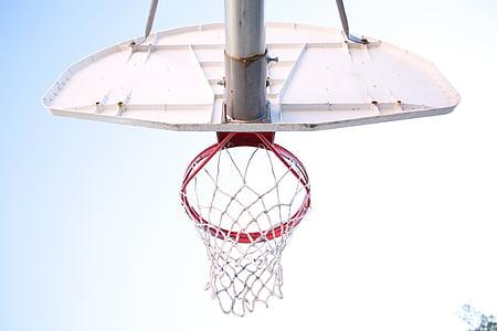 basquete, quadra de basquete, rede de basquete, Tribunal de bola cesta, bola de basquete líquida, esportes, Tribunal