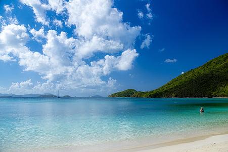 platja, sorra, oceà, Mar, vacances, l'aigua, natura