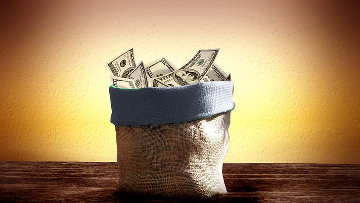 bossa, dòlar, diners, Bitllet de Banc, fons, nosaltres-dòlar, EUA