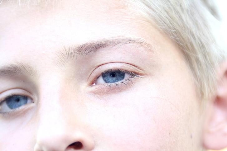 eyes, blue, mesmerizing, beautiful, close-up, blonde, youth
