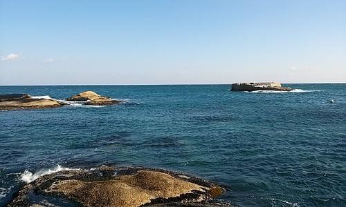 jūra, Rokas, dangus, žiemos jūra, Gangwon ar, Sokcho