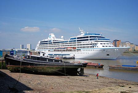 Cruise, liner, turisme, hav, Themsen, frakt, reise