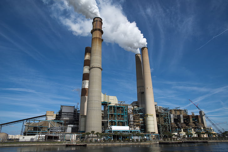 Elektriciteitscentrale, Ruskin-fl, Florida, Ruskin florida, plant, macht, industrie