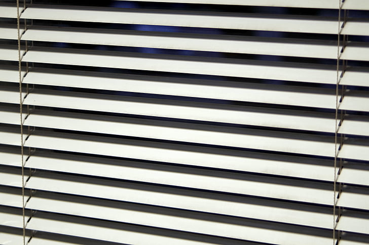 žaliuzės, langas, biuras, modelis, linijos, vidaus į, paprastas