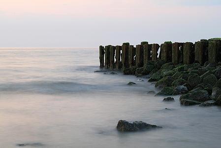 바다, 비치, 웨이브, 북 해, abendstimmung, 자연, 스카이