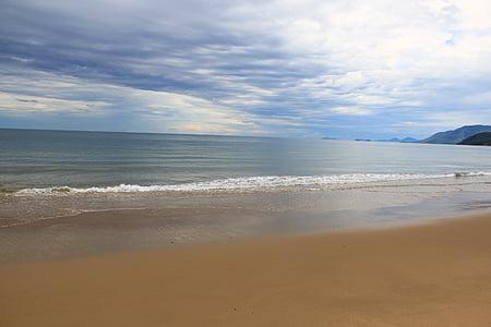 Beach, óceán, homok, Sky, felhők, Shore, sziget
