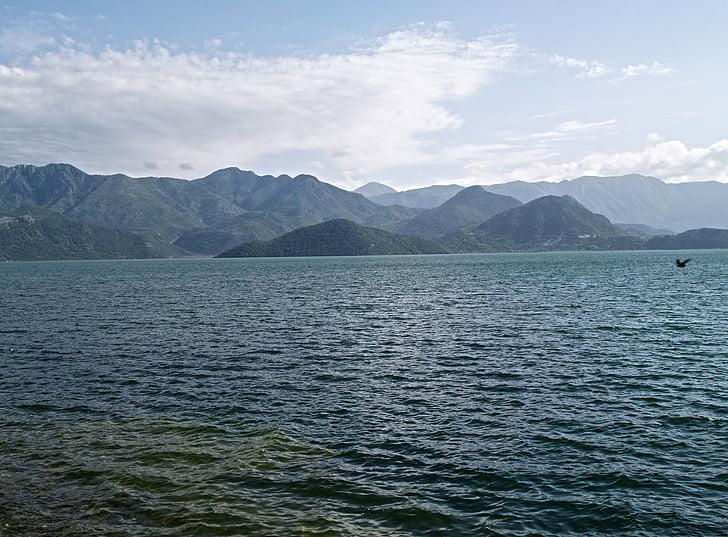 mountain, sea, landscape, sky, mountain landscape, nature landscape, summer landscape