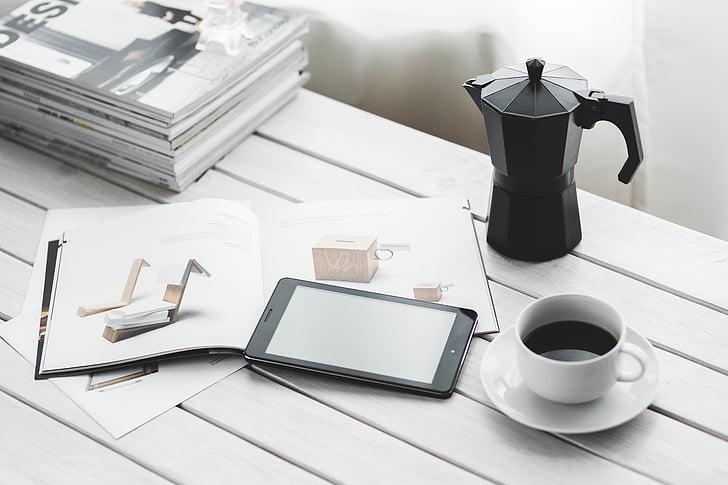tehnoloģija, ciparu, tabletes, digitālais tablet, dators, ierīce, melna
