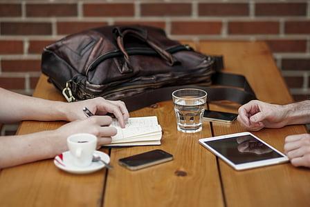 ābolu, soma, klients, sadarbība, paziņojums, ierīces, apspriežot