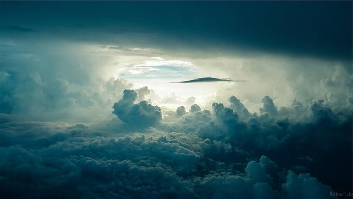 Debesis, formavimas, dangus, debesys, saulės spindulių, tamsus, Debesis - dangus