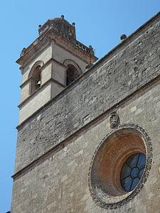 templom, Steeple, Petra, Mallorca, trutzig, monumentális, kő