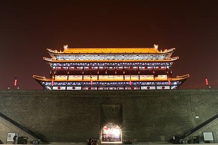 el paisatge, Xi ' an, Xina, el campanar, Àsia, edifici, història