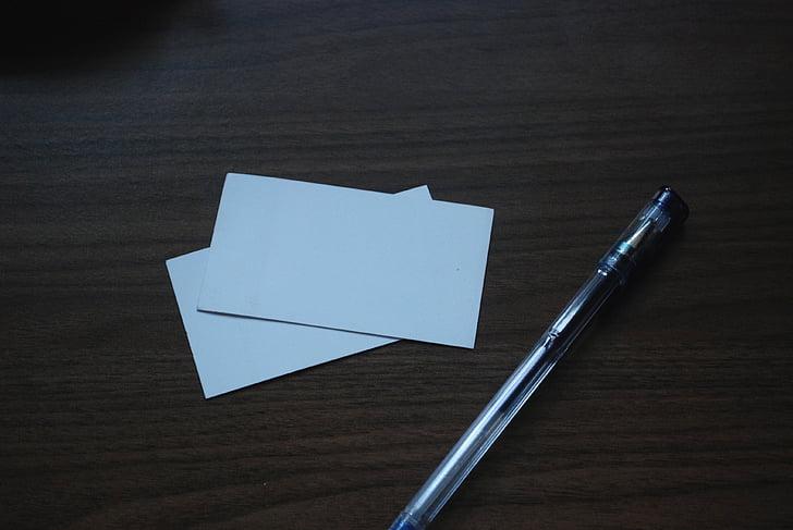 pen, pens, gel, business card, business cards, business, table
