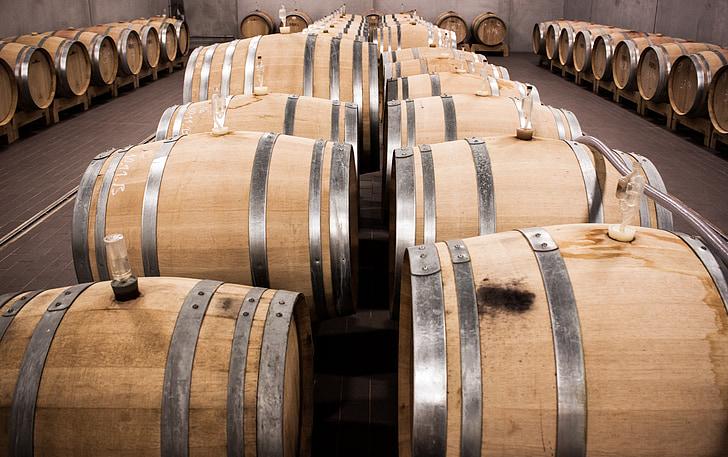 veini, barrel, veini barrel, barrelit, puidust tünnid, veini vaatides, Keller