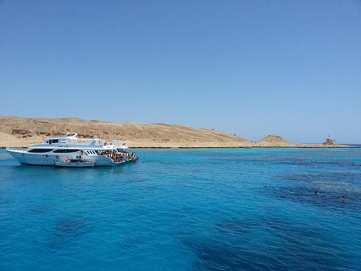 Mar Roig, ejipto, vaixell, Mar, platja, navegar, mar en calma