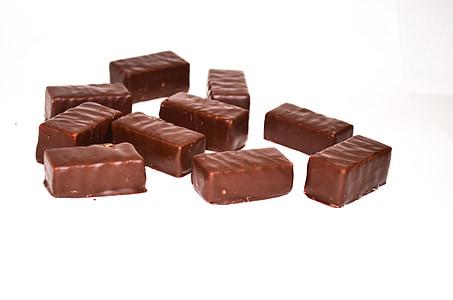 chocolate, candy, chocolate candy, sweet, black, dark chocolate, food