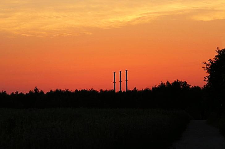 ηλιοβασίλεμα, abendstimmung, μεταλαμπή, φύση, ουρανός, τοπίο