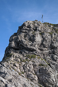 grov horn, klatring spot, bratt, steinete, Summit cross, toppmøtet, kors