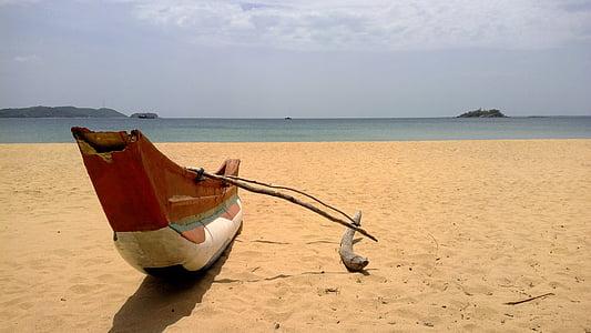 Srí lanka, Beach, Dovolenka, topánka, Marble beach, more, piesok