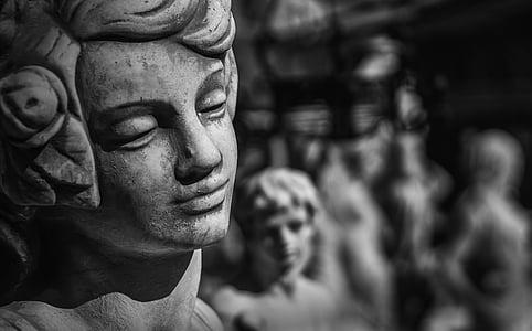 escultura, Ángel, piedra, Figura, esperanza, fe, Cementerio