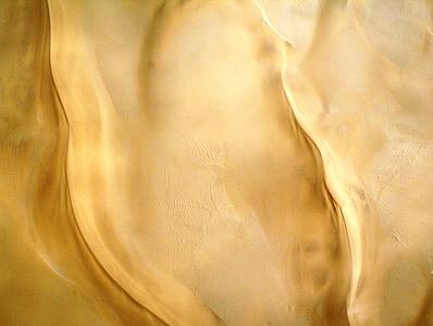 desert de, sorra, llum i ombra, sorra ondulat, dunes, Vista aèria, colors de sorra daurades