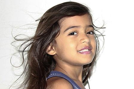cabell volant, cabell bonic, cabell del nen, dones, persones, femelles, una persona