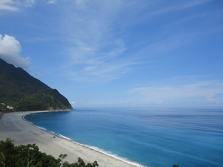 acantilados de, mar, Océano, Océano Pacífico, Taiwán