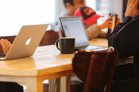 notebooks, cafe, blog, mobile, businessmen, social, network