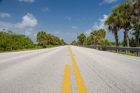 carretera, EUA, l'autopista, Amèrica, asfalt, recta, Ruta