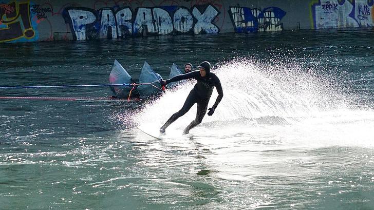 l'aigua, surf, riu, flux, esport, esports aquàtics, navegar per