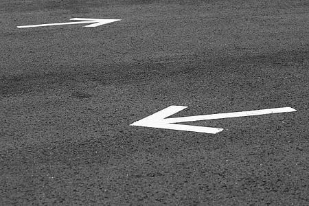 ok, yol, yol işaretleri, işareti, yön, yol, sembol