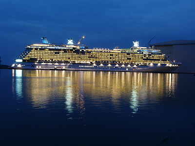 kryssning, fartyg, Twilight, kryssningsfartyg, havet, passagerarfartyg, resor