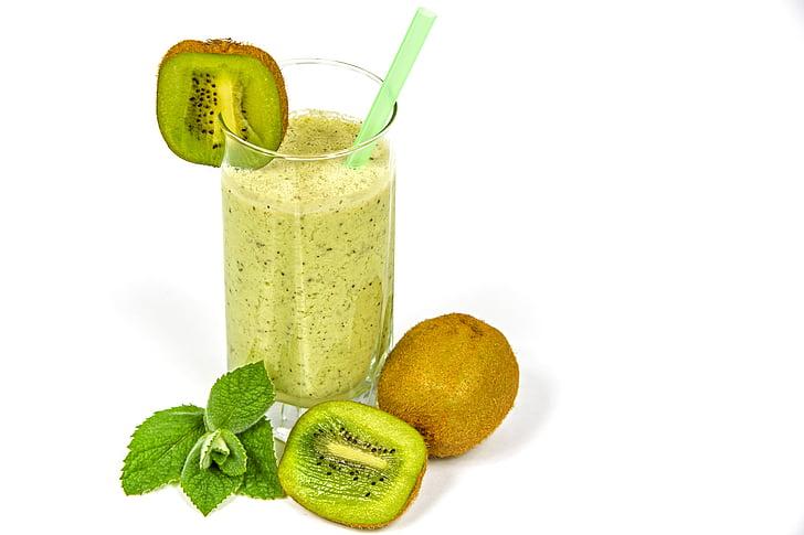 Kiwi coctail, kefir, frugt, Kiwi, mad, sund, sundhed
