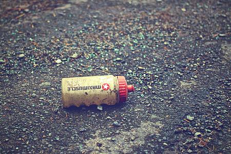 饮料, 瓶, 塑料, 自行车, 集装箱, 饮料, 垃圾