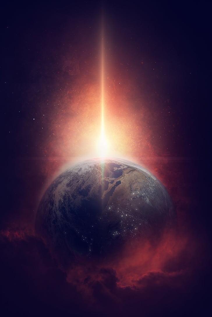 tots els, univers, terra, planeta, espai, cosmos, galàxia