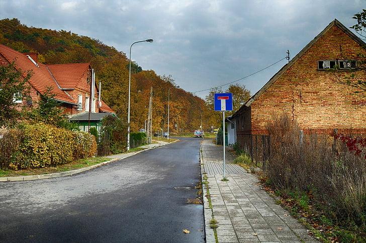 Polsko, vesnice, budovy, Domů, Architektura, ulice, mimo