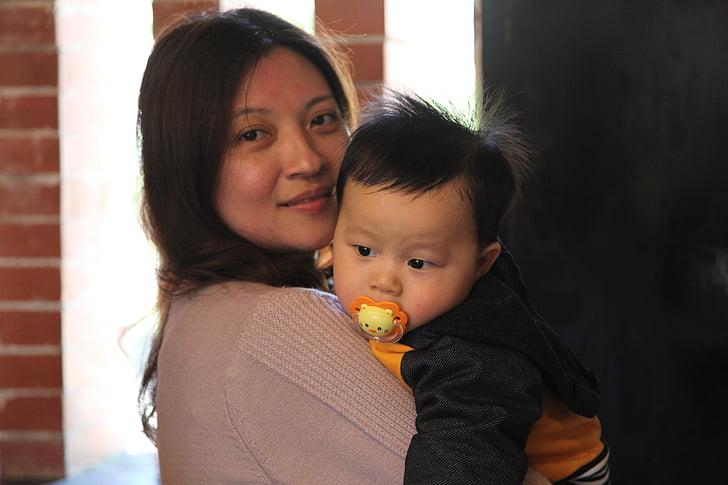 empresa, mare, nens, família amb un fill, nen, infantesa, filla