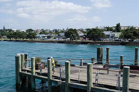 Devonport, Auckland, Uus-Meremaa, Zealand, suvel, vee, sinine