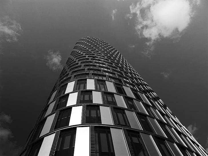 l'atmosphère, gris, bâtiment