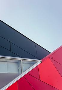 arhitektuur, hoone, infrastruktuuri, disain, akna, kaasaegne, sinine