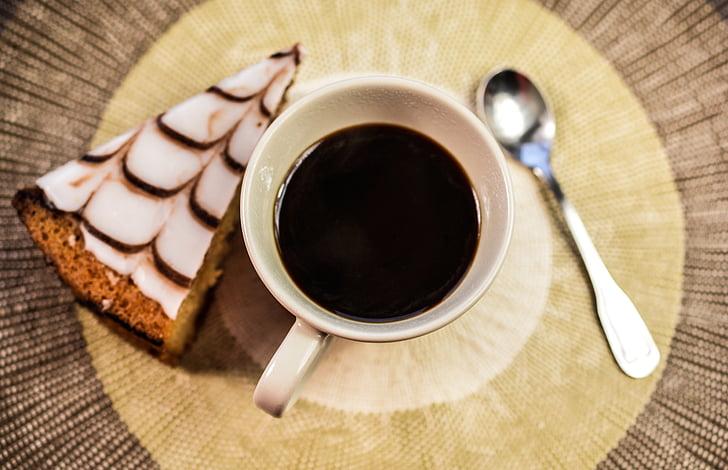 café, pastel, taza, alimentos, postre, café, dulce