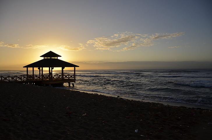 landscape, beach, dawn