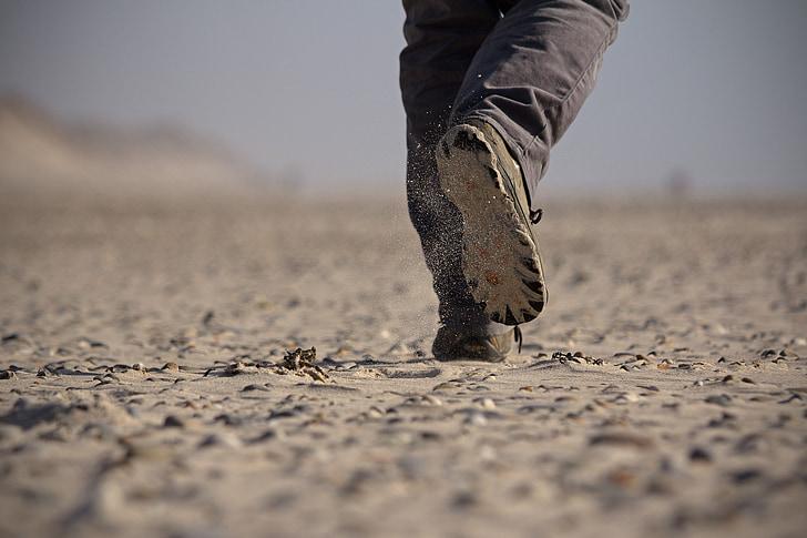 korak, put, cipele, jedini, Smjer, pješice, kretanje