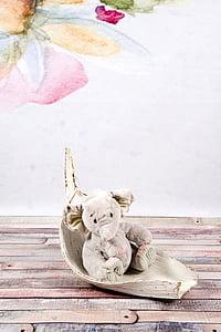 elephant, plush, gray, the mascot, sitting, studio, colorful