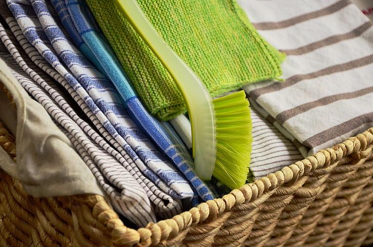 tea törölköző, öblítés, mop, száraz, ruhával, szövet, nedves